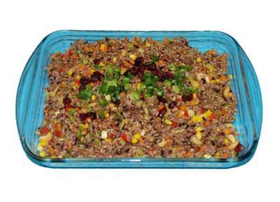 organic fried rice with cranberries